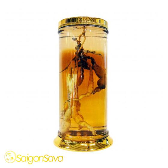 Bình ngâm rượu thủy tinh dạng hình trụ thẳng