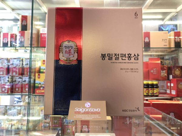 hồng sâm xắt lát tẩm mật ong kgc 240g của hồng sâm chính phủ