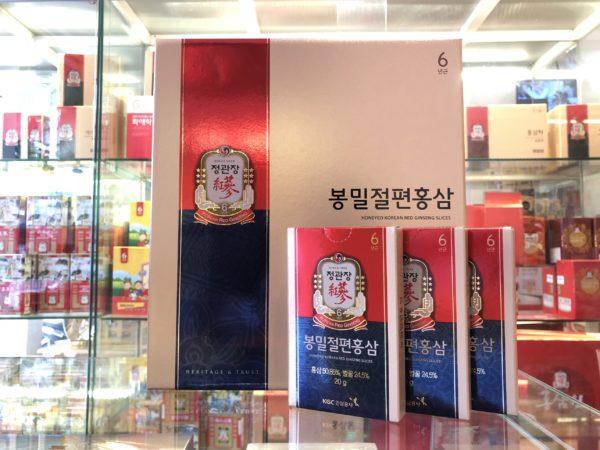 hồng sâm tẩm mật ong xắt lát kgc 240g của hồng sâm chính phủ tại saigonsava