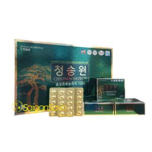 Tinh dầu thông đỏ Hàn Quốc Cheongsongwon 180 viên hộp xanh