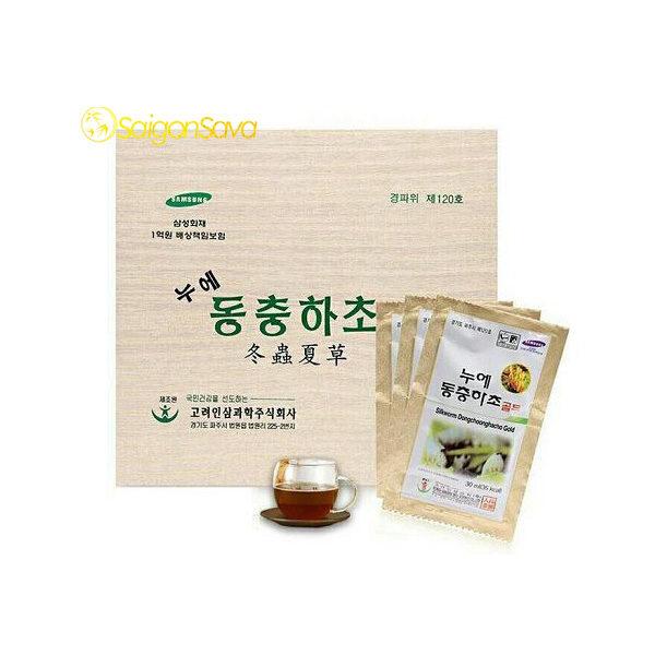 Đông trùng hạ thảo bio Hàn Quốc hộp gỗ trắng 60 gói X 30ml