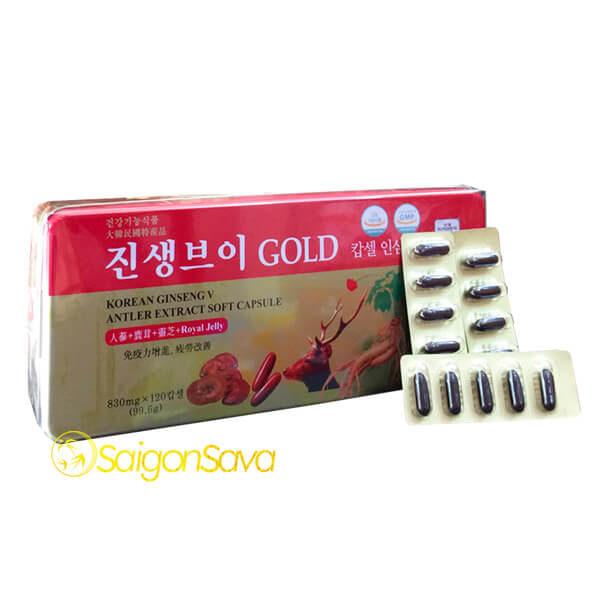 Viên sâm nhung hàn quốc Gold 120 viên dongwon