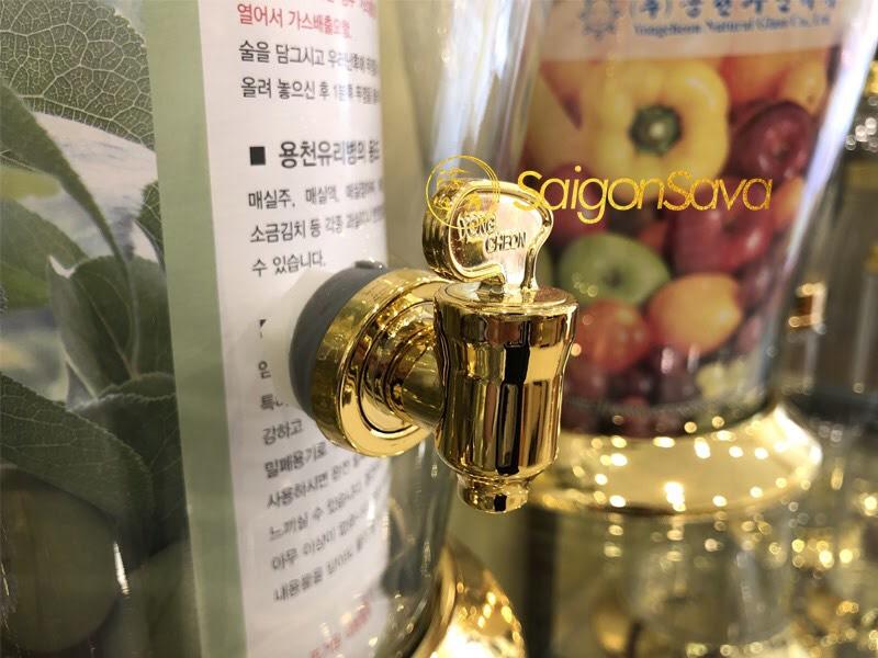 Bình thủy tinh ngâm rượu Hàn Quốc có val 5.5l
