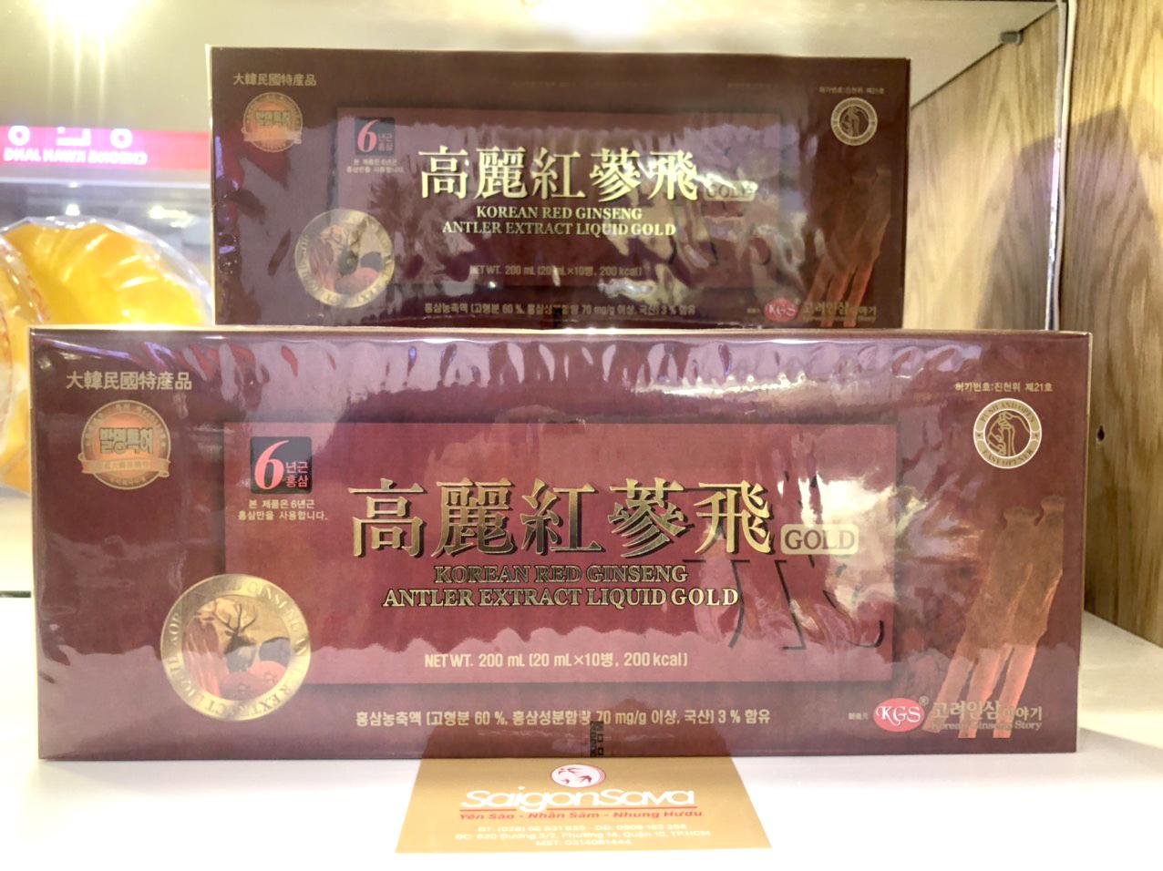 hồng sâm nhung hươu KGS 10 ống