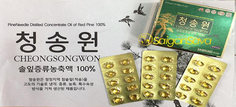 Những điều nên biết về tinh dầu thông đỏ Cheongsongwon
