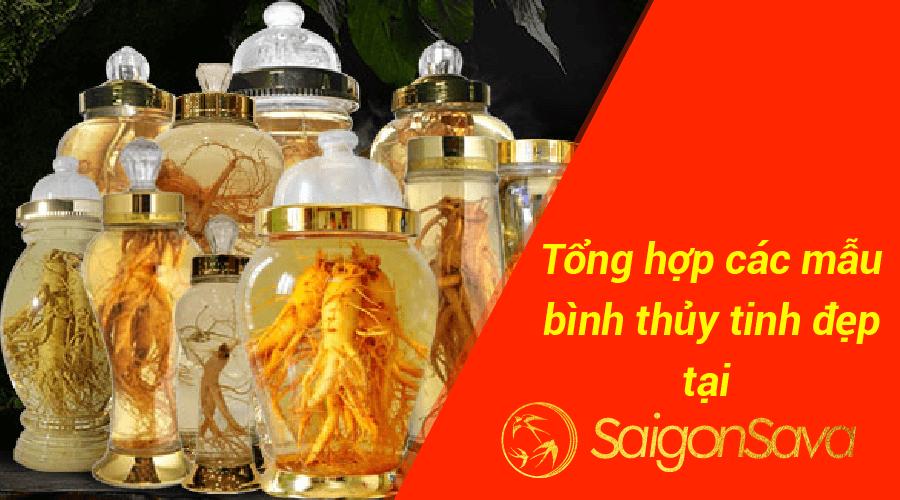 Tổng hợp các mẫu bình thủy tinh đẹp tại SaigonSava