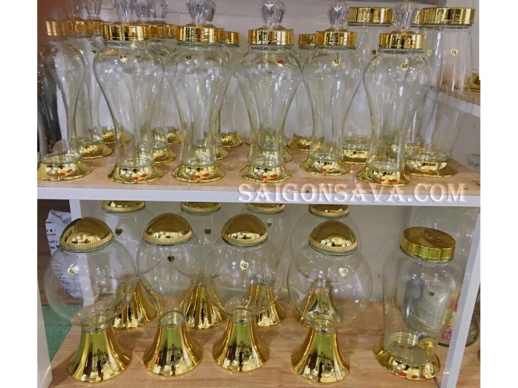 Các mẫu bình thủy tinh 5 lít tại Saigon Sava