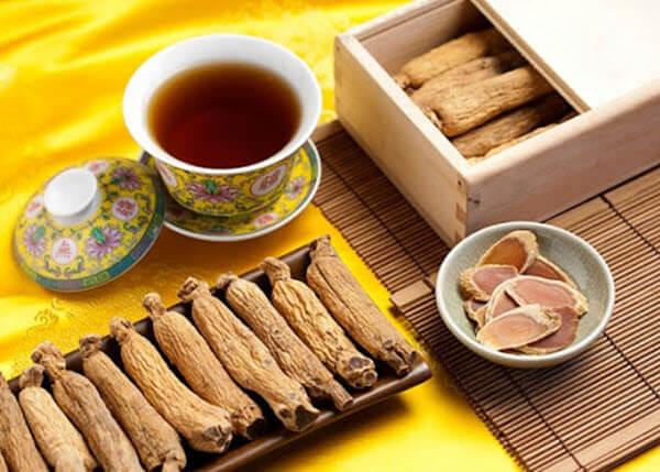 Sử dụng hồng sâm để pha trà