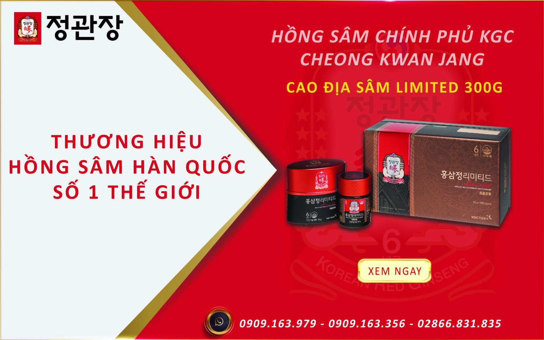 Tinh chất cao hồng sâm limited KGC
