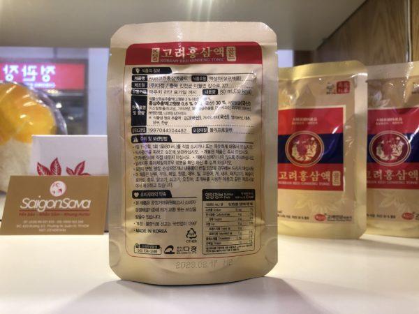 nước hồng sâm tonic gold kgs 60 gói