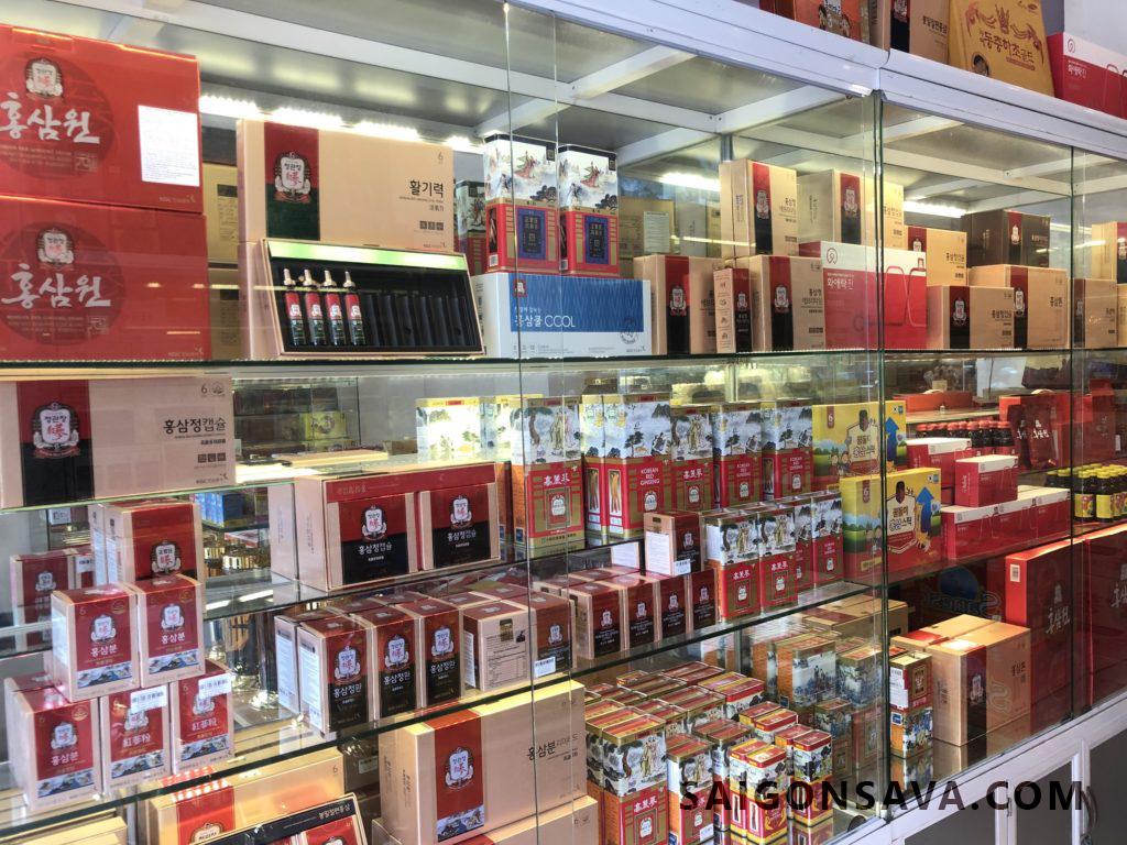 Sản phẩm hồng sâm chính phủ tại cửa hàng - Saigonsava