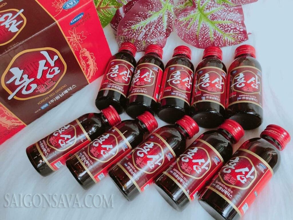 Công dụng của nước hồng sâm Hàn Quốc
