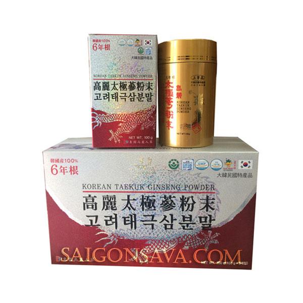 Hình ảnh Bột hồng sâm Dongil Hàn Quốc hộp 3 lọ x 100g