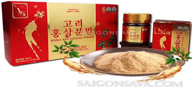 Địa chỉ bán bột hồng sâm Hàn Quốc chính hãng uy tín, đảm bảo chất lượng