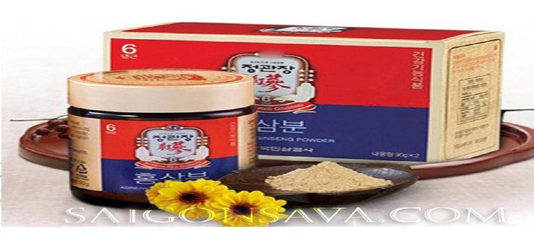 Công dụng, cách dùng, cách bảo quản bột sâm Hàn Quốc