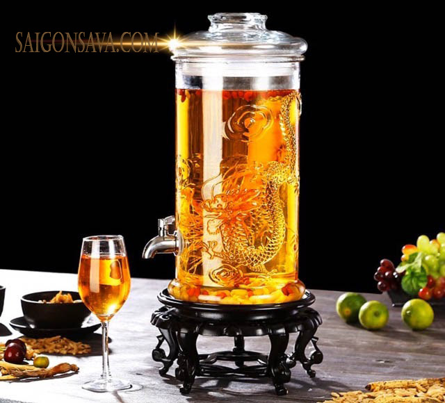 Bình rượu ngâm sâm mang tính thẩm mỹ cao