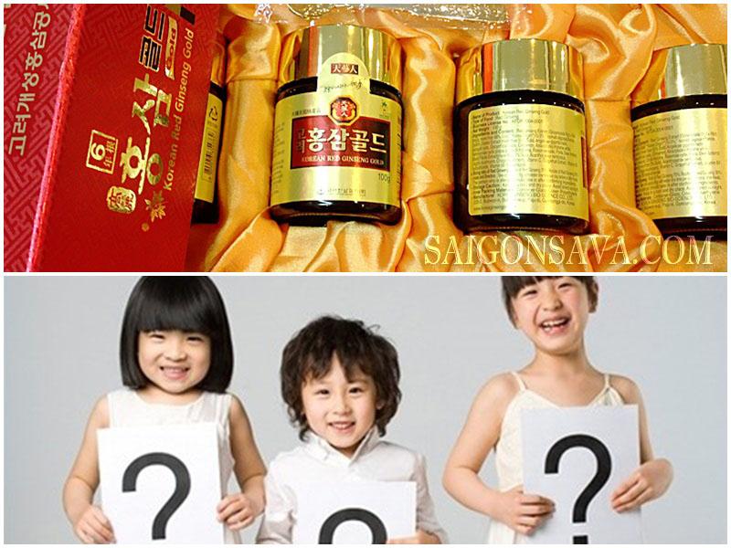 Trẻ em có được sử dụng cao hồng sâm Hàn Quốc như thức uống dinh dưỡng cho sức khỏe không?