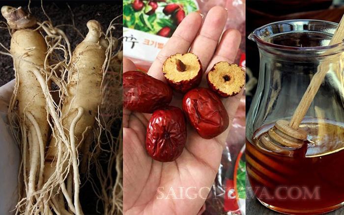 Nhiều cách chế biến hấp dẫn, bổ dưỡng từ nhân sâm và táo đỏ
