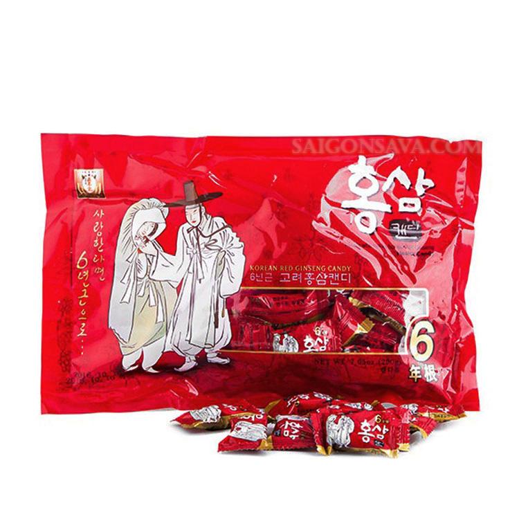 Kẹo nhân sâm Hàn Quốc Ông Bà Lão khá được ưa chuộng bởi chất lượng tốt, giá hợp lý