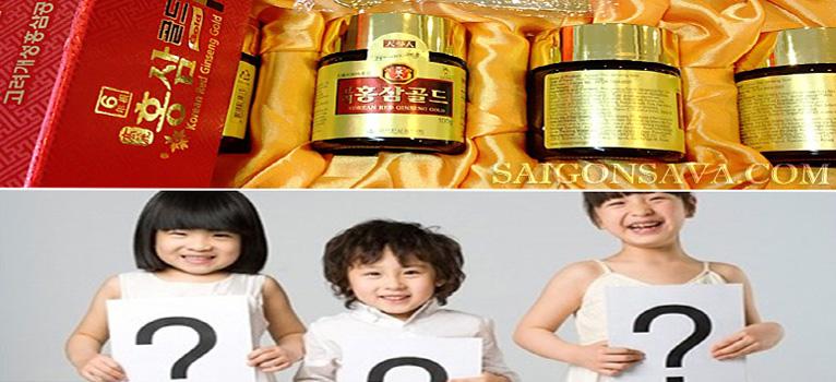 Trẻ nhỏ có sử dụng được cao hồng sâm Hàn Quốc không?