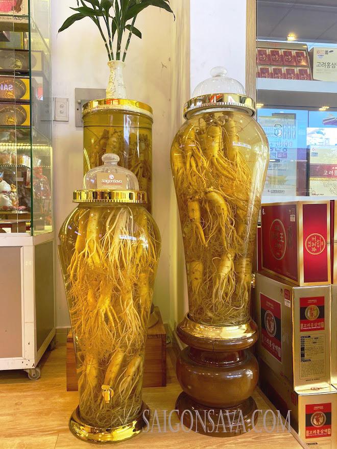 Rượu sâm Hàn Quốc cao cấp tại Saigonsava