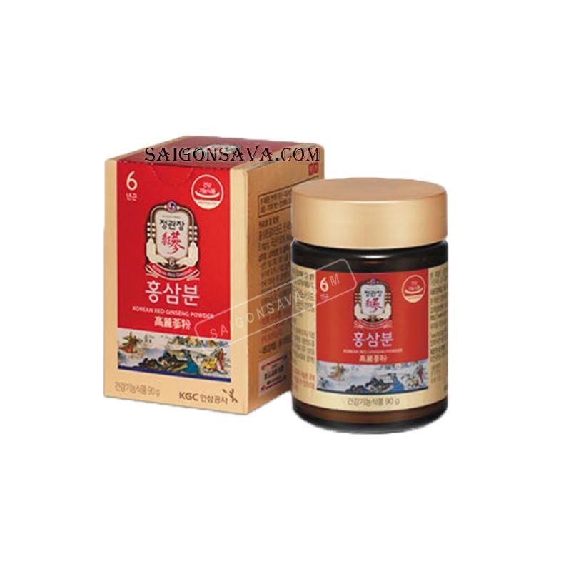 Công dụng của bột hồng sâm Hàn Quốc tương đương với nhân sâm nguyên củ
