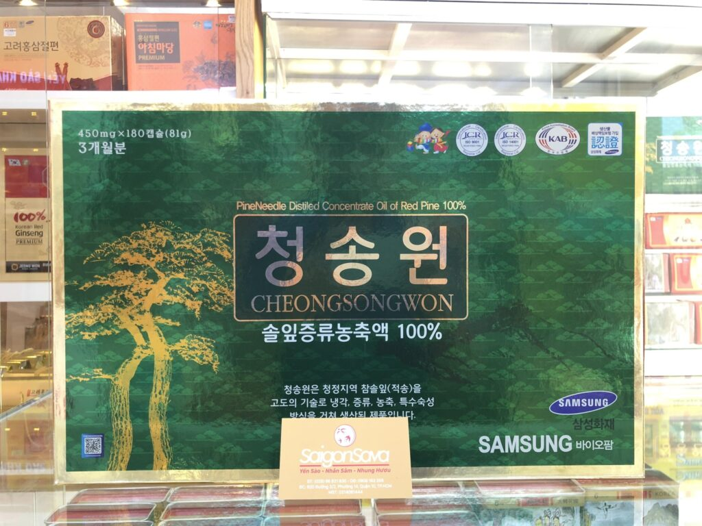 Tinh dầu thông đỏ Hàn Quốc rất tốt cho sắc đẹp phụ nữ
